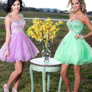 NWT Lilac strapless sweatheart neckline prom dress
